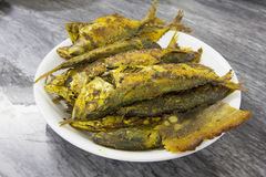 Deep Fried Fish with Curry Powder Royalty Free Stock Images