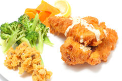 Deep fried fish fillet Stock Images