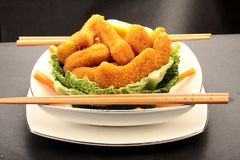 Deep fried Fish nuggets Royalty Free Stock Photos