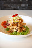 Deep fried fish. Thai style food. Royalty Free Stock Photography