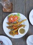 Deep fried fish with turmeric Royalty Free Stock Photos
