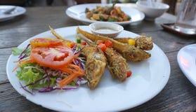 Deep fried fish with turmeric Royalty Free Stock Photo