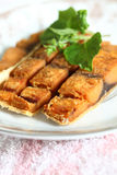 Fried fishes stock images