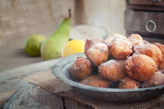 Deep fried fritters donuts Royalty Free Stock Photo