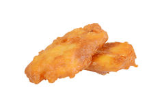 Deep fried haddock fish in batter Royalty Free Stock Photos