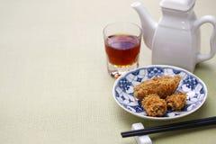 Deep fried honeycomb taro dumplings Royalty Free Stock Images