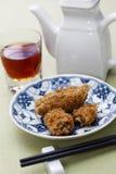 Deep fried honeycomb taro dumplings. Chinese dim sum Stock Images