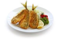 Deep fried horse mackerel Royalty Free Stock Image
