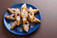 Deep fried hungarian pastry Stock Photos