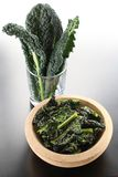 Black kale chips Royalty Free Stock Images