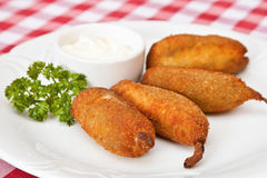Deep-fried Jalapeno chili pepper Stock Photos
