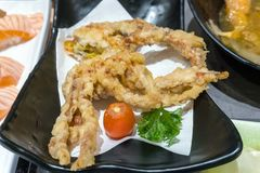 Deep Fried Japanese Spider Crab Appetizer. Closeup macro royalty free stock image
