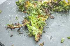 Deep fried kale Royalty Free Stock Photography