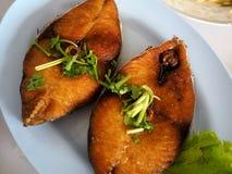 Deep Fried King Mackerel Fish. Thai food Stock Images