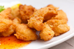Deep fried King Prawns Royalty Free Stock Photography