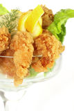 Deep fried Kings prawns Stock Photos
