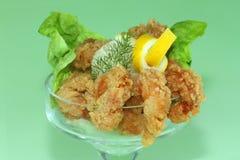 Deep fried Kings prawns Royalty Free Stock Images