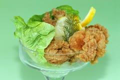 Deep fried Kings prawns Stock Images