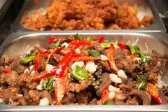 Deep fried marinated Pork on dish. Thai food: Deep fried marinated Pork on dish Royalty Free Stock Image