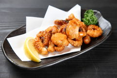 Deep fried octopus  Royalty Free Stock Photo