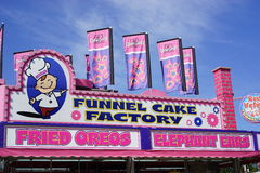 Deep-fried Oreos. The deep-fried food at fairs and carnivals in the southern US have tons of carbs and fat. There are few healthy choices royalty free stock photography