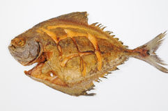 Deep Fried Pomfret Fish Royalty Free Stock Photos