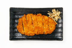 Deep fried pork. Marinate pork meat in seasoned sauce, cover with bread powder before deep fried Stock Photos