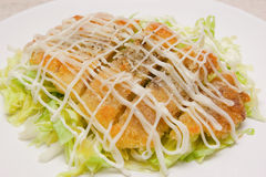 Deep Fried Pork Chop Salad Royalty Free Stock Images