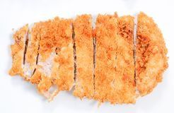Deep-fried pork cutlet Royalty Free Stock Photography