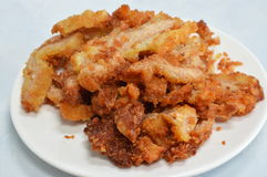 Deep fried pork made from gluten protein Royalty Free Stock Image