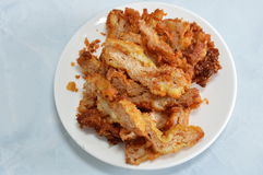 Deep fried pork made from textured vegetable protein Royalty Free Stock Images