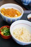 Deep fried pork rice with noodle, Japanese food Royalty Free Stock Image