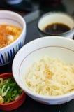Deep fried pork rice with noodle set Stock Image