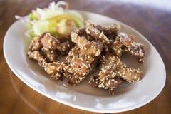 Deep fried pork with sesame Stock Photo