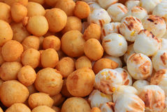 Deep fried potato balls. Are snack of local part of thailand Stock Image