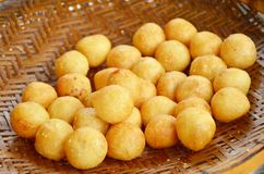 Deep fried potato balls. stock image