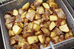 Deep Fried Potatoes Royalty Free Stock Images
