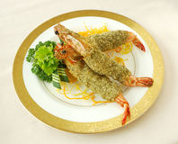 Deep fried prawn with seaweed. Chinese cuisine. yumcha, chinese food Royalty Free Stock Image