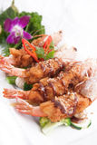 Deep fried prawn with Tamarind sauce Royalty Free Stock Image