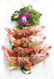 Deep fried prawn with Tamarind sauce Royalty Free Stock Images
