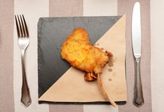 Deep fried rack of lamb Royalty Free Stock Photo