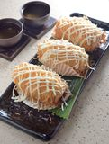 Deep fried raddish cake. Dim sum deep fried raddish cake Stock Photography