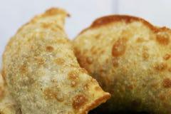 Deep fried rellenó la comida de los pasteles en el Brasil imagen de archivo libre de regalías