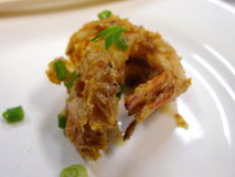 Deep fried salted egg yolk prawn Stock Photos