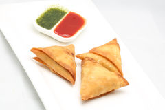 Deep Fried Samosa Stock Photo