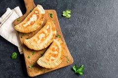 Deep fried  samosas Royalty Free Stock Photography