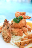 Deep fried seafood Royalty Free Stock Image
