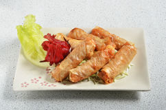 Deep fried seafood roll Royalty Free Stock Image