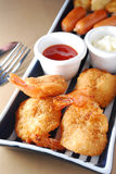 Deep fried shrimp Stock Image