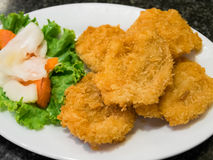 Deep-fried shrimp cakes Royalty Free Stock Images